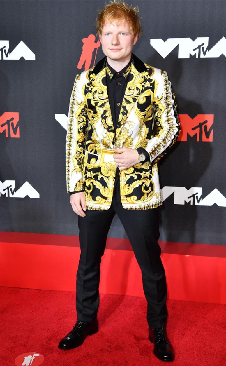 Ed Sheeran, 2021 MTV Video Music Awards, Red Carpet Fashion, Arrivals