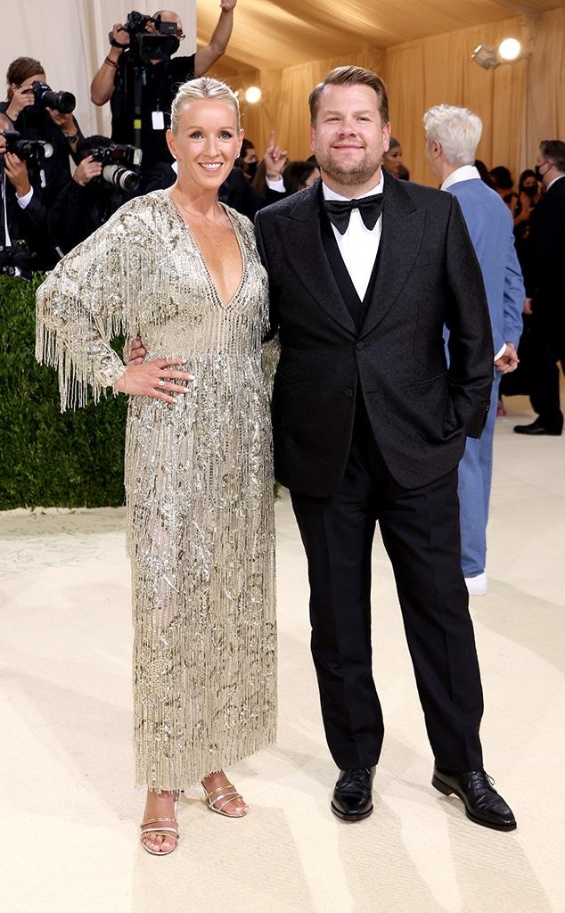 Julia Carey, James Corden, 2021 Met Gala, Red Carpet Fashion, Couples