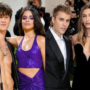 Shawn Mendes, Camila Cabello, Justin Bieber, Hailey Bieber