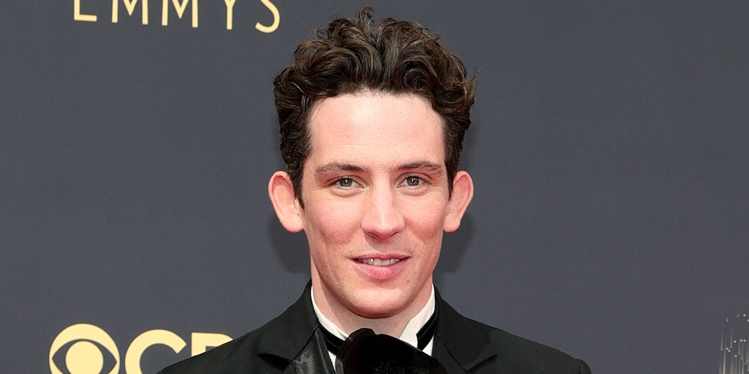 """The Crown's Josh O'Connor Is an """"Absolute Wreck"""" After Surprise 2021 Emmys Win - E! Online.jpg"""