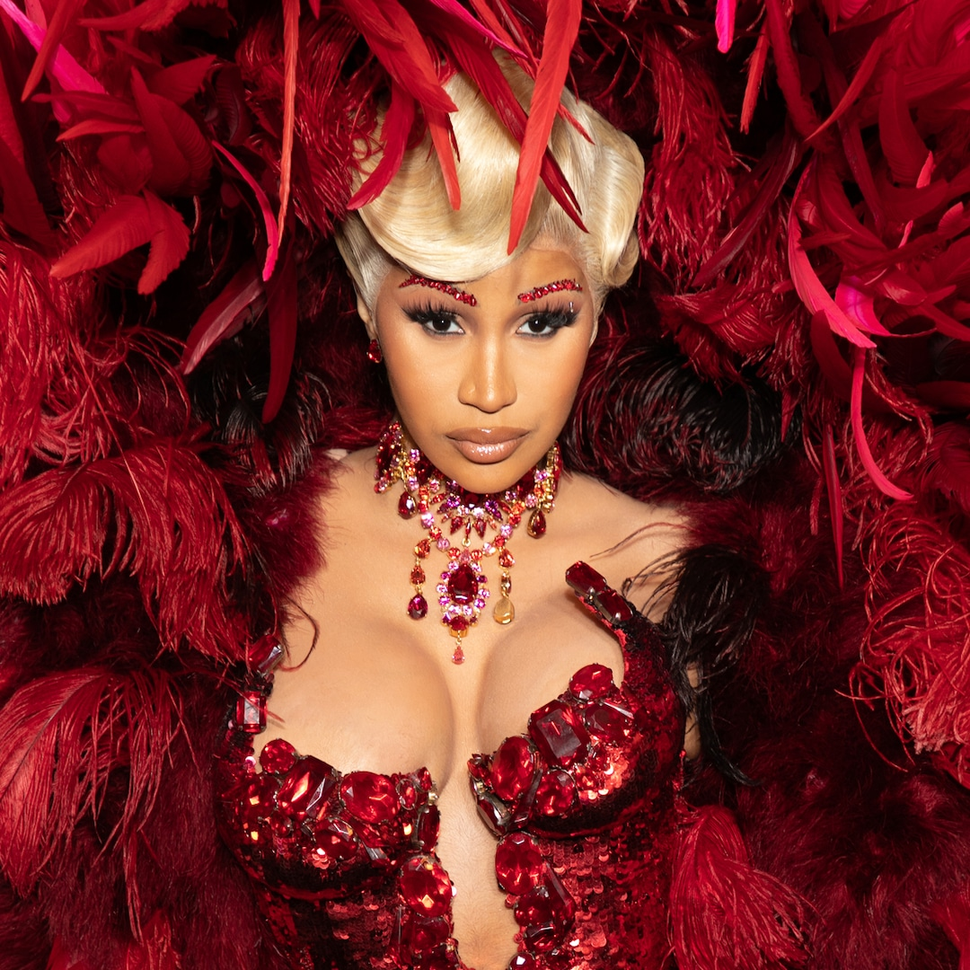 Cardi B Rocks Her Most Outrageous Look Yet on First Red Carpet Since Giving Birth