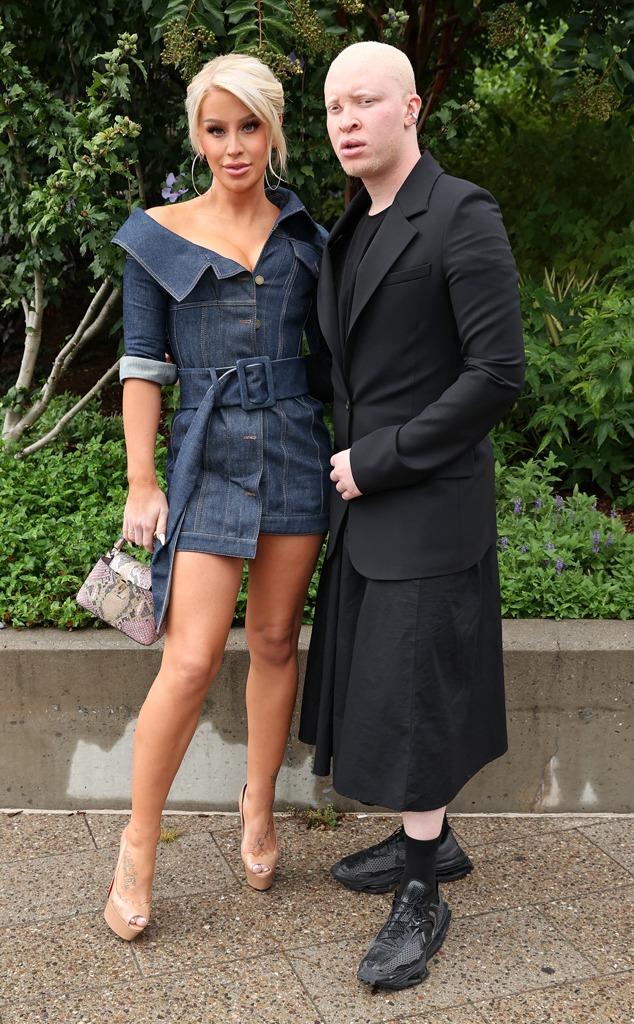 Gigi Gorgeous Getty, Shaun Ross, star sightings, celebs, NYFW, New York Fashion Week Spring-Summer 2022