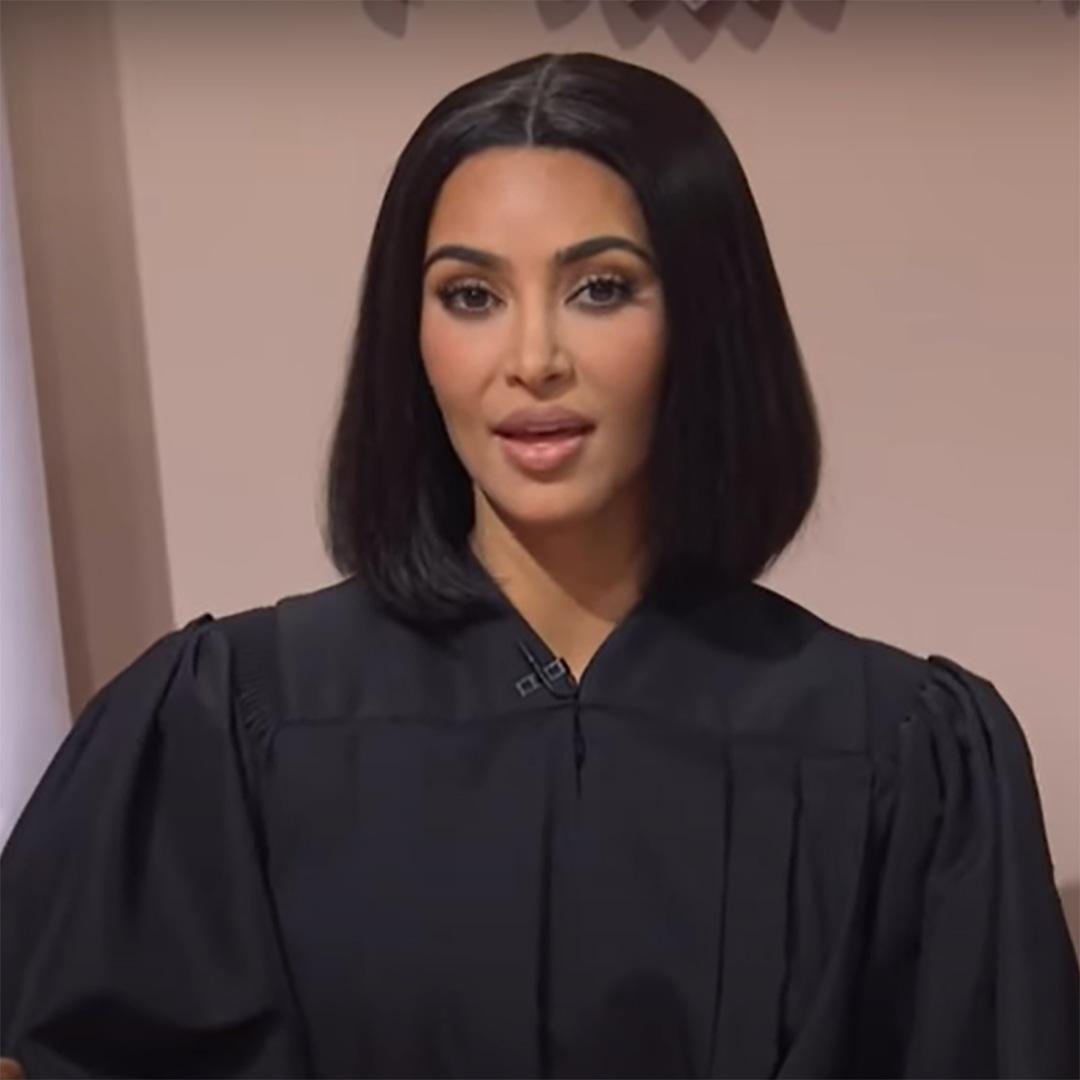 Watch Kim Kardashian Roast Kourtney and Travis Barker's Romance on SNL thumbnail