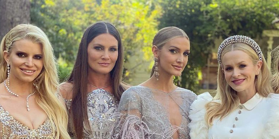Jessica Simpson and Sister Ashlee Simpson Ross Are the Most Glamorous Bridesmaids at Friend's Wedding - E! Online.jpg