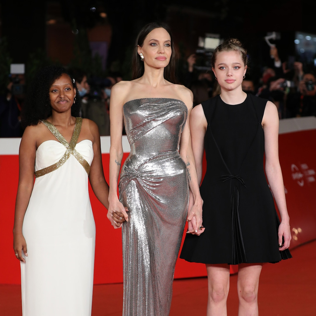 Why Angelina Jolie Encourages Her Youngsters to Raid Her Luxe Closet – E! On-line