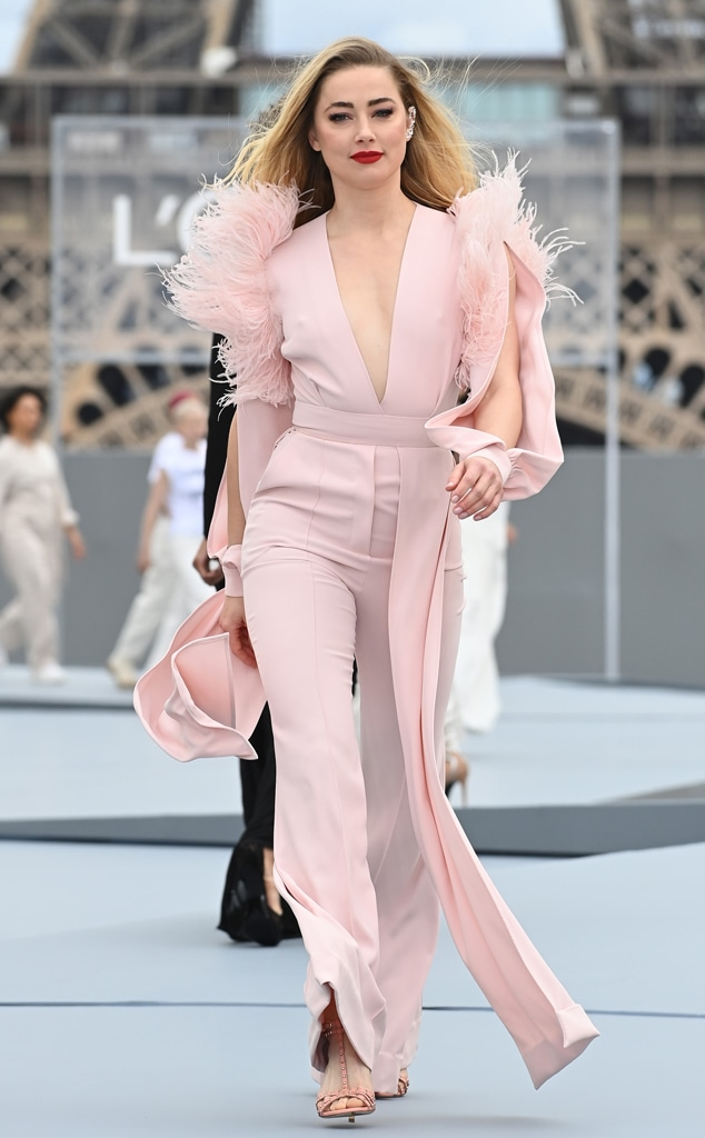 Amber Heard, Le Defile L'Oreal Paris 2021