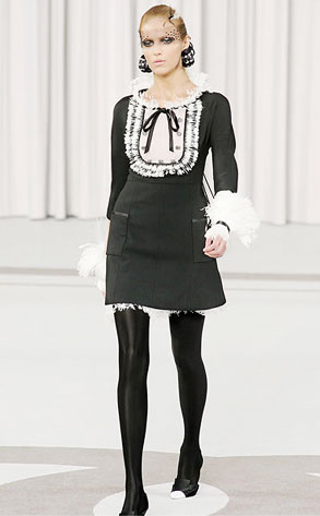 Chanel Black & White Bib Dress